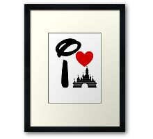 I Heart Sleeping Beauty (dark) Framed Print
