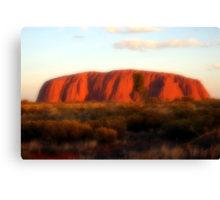 Ayers Rock Atmosphere Canvas Print