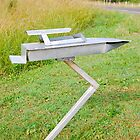 Jet Boat Mailbox by Penny Smith