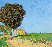 A Lane Near Arles, Vincent van Gogh.  by naturematters