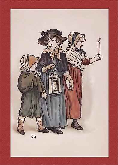 Greetings-Kate Greenaway-Evening Stroll by Yesteryears