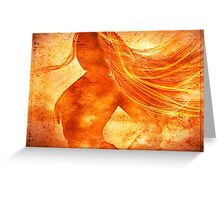 Elemental Mysteries 1 - Born of Fire Greeting Card