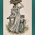 Greetings-Kate Greenaway-Autumn by Yesteryears