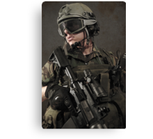 PORTRAIT OF A SOLDIER Canvas Print