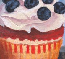 Mad Blueberries Cupcake Sticker