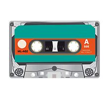 tape cassette illustration by dubassy