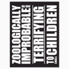 Zoologically Improbable { Sticker } by middletone