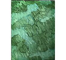 BLUE AND GREEN SQUIGGLES ON CANVAS Photographic Print