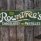 Vintage Advertising hoarding Rowntrees  by Katherine Case