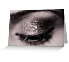Blink Of An Eye Greeting Card