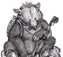 Shroom the Hippie Bear by Karriemccrr