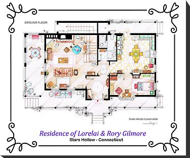 House of Lorelai &amp; Rory Gilmore - Ground Floor by Iaki Aliste Lizarralde