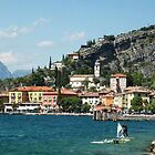WindSurfers On the Shores of Lake Garda by William Bovington