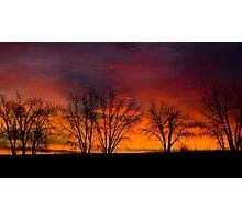 Plain Sunrise Color Palette 2 Photographic Print