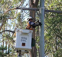 Man At Work: Power Failure  by aussiebushstick