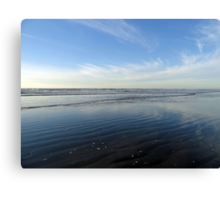 Quinault Beach Patterned Reflection  Canvas Print