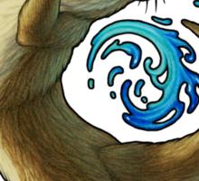Otter Waves Sticker