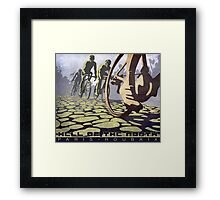 cycling illustration HELL OF THE NORTH retro Paris Roubaix  Framed Print