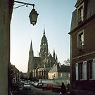 Bayeux Cathedral as we went to hotel for night 198402180085 by Fred Mitchell