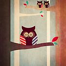 Owls in the Forest by Femke Nicoline Muntz