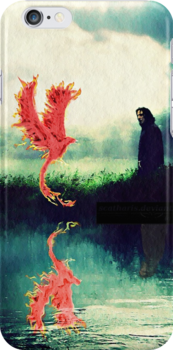 """I-phone, I-pod case """"New Master"""" Snape and Fawkes by scatharis"""