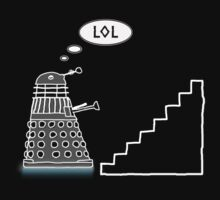 Daleks Love Stairs - T Shirt by BlueShift