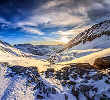 Beautiful sunset view of the Alps Mölltaler Gletscher by Zoltán Duray