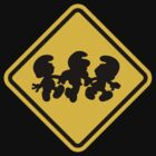 Beware of Smurfs Road Sign by eZonkey