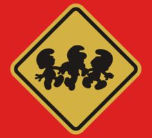 Beware of Smurfs Road Sign Kids Clothes