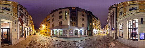 Two ways out panorama, Riga, Latvia by paulsrphoto