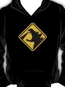 Beware of Japanese Monsters Road Sign T-Shirt