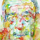 HENRY MILLER watercolor portrait.1 by lautir