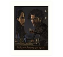 Robb and Talisa (Mild Spoiler Alert) Art Print