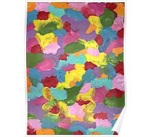 COLORFUL FRENZY ON CANVAS Poster