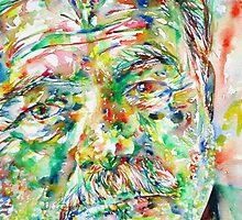 ERNEST HEMINGWAY watercolor portrait.1 by lautir