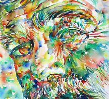 ERNEST HEMINGWAY watercolor portrait.2 by lautir