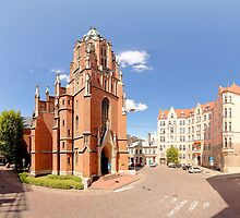 St. Gertrude Old Church panorama in Riga, Latvia by paulsrphoto