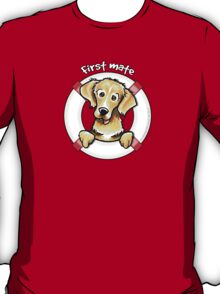 Golden Retriever :: First Mate T-Shirt