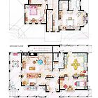 House of Lorelai &amp; Rory Gilmore - Both Floorplans by Iaki Aliste Lizarralde