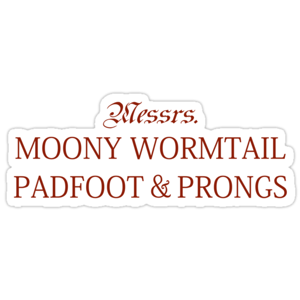 Messrs Moony, Wormtail, Padfoot and Prongs by rexannakay