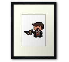 Pixel Mafia Graves Framed Print