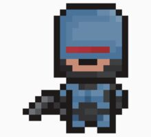 Pixel Robocop Sticker by PixelBlock