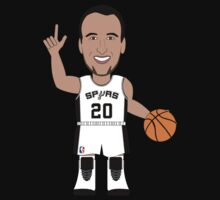 NBAToon of Manu Ginobili, player of San Antonio Spurs by D4RK0