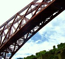 Forth Rail Bridge, from North Queensferry Battery by Katherine Case