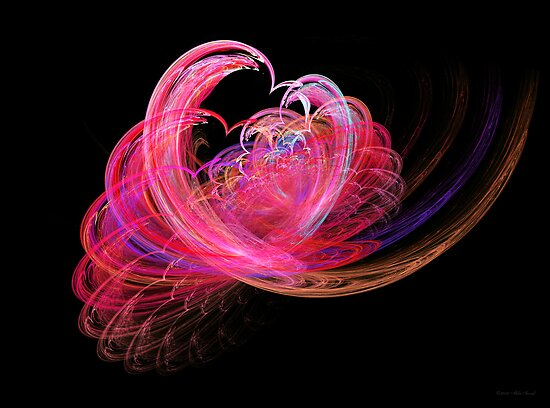 Fractal - Heart - Lets be friends by Mike  Savad