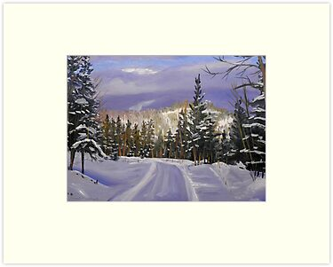 Landscape Painting - Winter Splendor - 12 x 16 Oil by Daniel Fishback