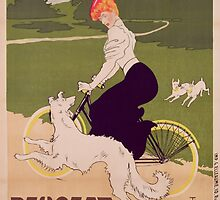 Poster advertising Peugeot bicycles by Bridgeman Art Library