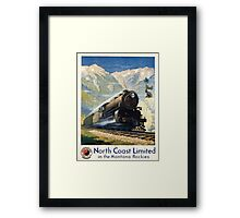 North Coast Limited in the Montana Rockies, Northern Pacific advertisement Framed Print