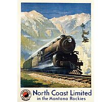 North Coast Limited in the Montana Rockies, Northern Pacific advertisement Photographic Print
