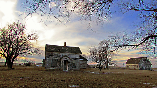 Old Prairie Homestead by Greg Belfrage